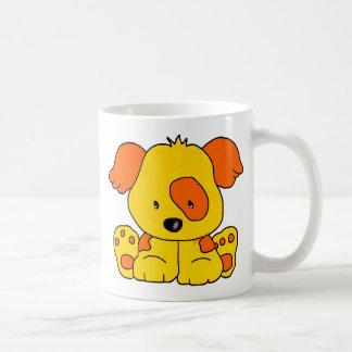Mug Kid's Puppy Dog Yellow Orange Spot