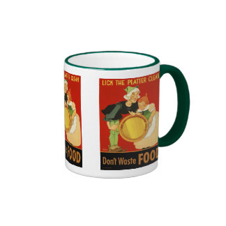 Mug: Lick the Platter Clean Ringer Mug
