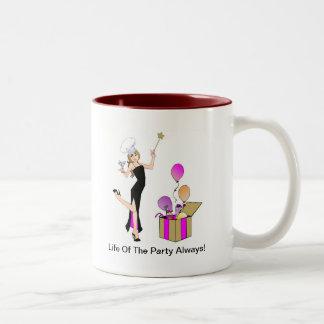 Mug, Life Of The Party Always!... Two-Tone Coffee Mug