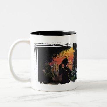 Coffee Themed Mug - lo-fi sunset by micgurro