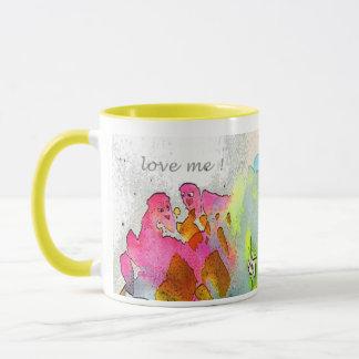 """Mug """"love me!"""""""