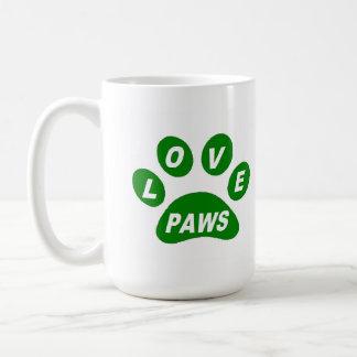 Mug Love Paws on Paws Green