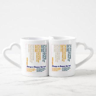 "Mug Lovers' Set 16 oz. combined design area 2.5"" x"