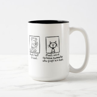 Mug, Man's Best Friend Two-Tone Coffee Mug