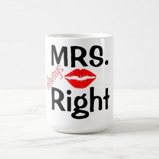 Mug/Mrs always Right with Red Lips Coffee Mug