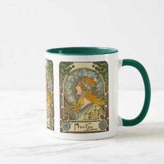 Mug: Mucha Art Nouveau -  Zodiac  - La Plume Mug