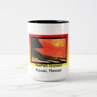 Mug-NaPali Sunset, Kauai, Hawaii Two-Tone Coffee Mug