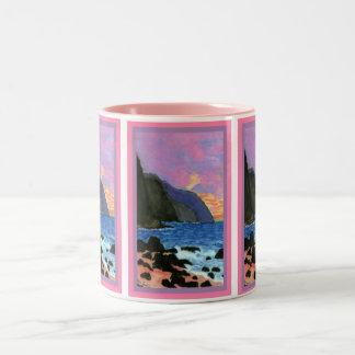 Mug-NaPali Sunset Magenta-Filled Sky Two-Tone Coffee Mug