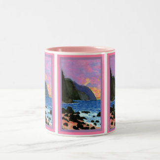 Mug-NaPali Sunset Magenta-Filled Sky Two-Tone Coffee Mug