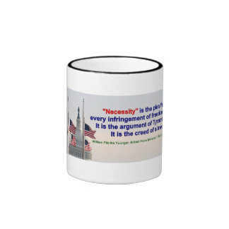 """Mug - """"Necessity"""" is the argument of the Tyrant"""