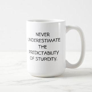 MUG-NEVER UNDERESTIMATE COFFEE MUG