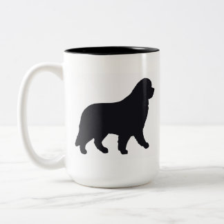 Mug~ Newfoundland Dog Two-Tone Coffee Mug