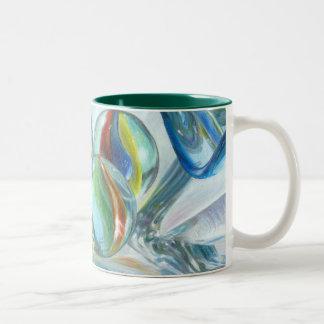 Mug-o-marbles, Art by Carla Kurt Two-Tone Coffee Mug