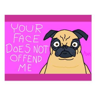 Mug of a Pug Postcard