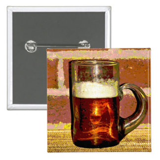 Mug of Beer 2 Inch Square Button