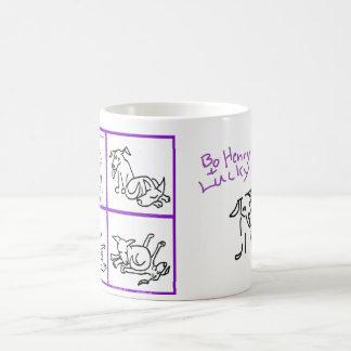 "Mug of dogs-Bo Henry and Lucky--""I'm bored"" w/logo"