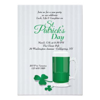 Mug of Green Beer St. Patrick's Day Invitation