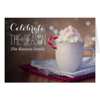 Mug of hot chocolate card