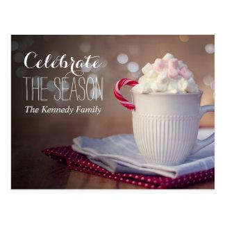 Mug of hot chocolate postcard