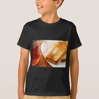 Mug of tea and hot toast with butter T-Shirt
