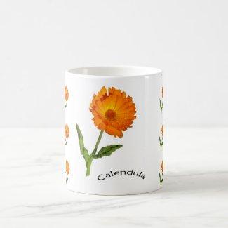 Mug - Orange Calendula Flower
