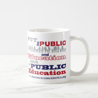 "Mug: PAA's ""Put the Public Back"" Classic White Coffee Mug"
