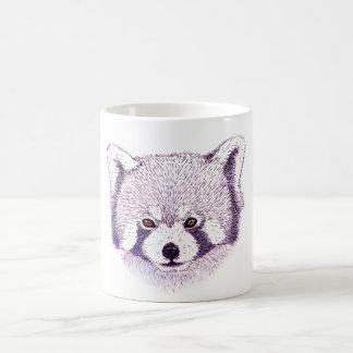 Mug pandas rojizas taza de café