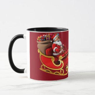 "Mug ""Papa Noel and its sleigh """