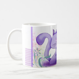 Mug para niño gatito de color de malva taza