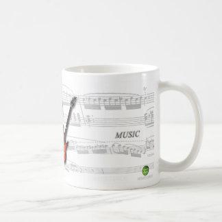 Mug partition and guitar