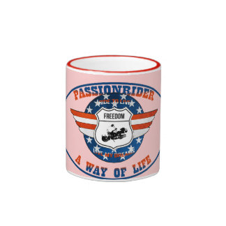 Mug Passionrider Taza A Dos Colores