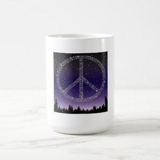 MUG- PEACE STARS COFFEE MUG