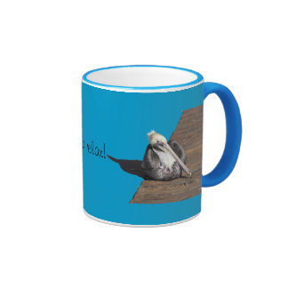 Mug - Pelican on pier - mirrored