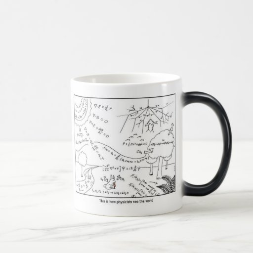 Mug physicists see the world [LEFT HANDED] Caneca