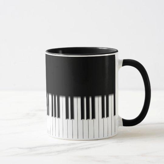 Mug - Piano Keyboard black white