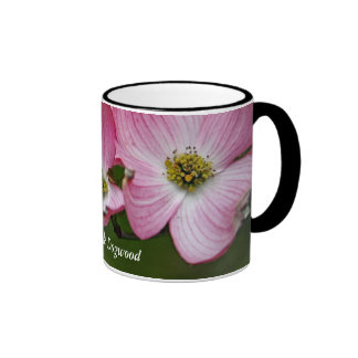 Mug:  Pink Dogwood Ringer Mug