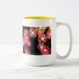 Mug-Pink Ice Plant Two-Tone Coffee Mug