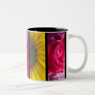 Mug - Pink & Yellow Macro Flowers