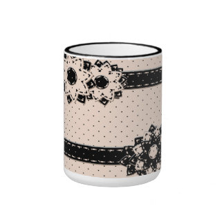 Mug Polka Dot and Flowers