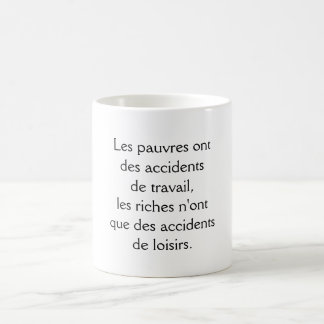 mug poor rich person