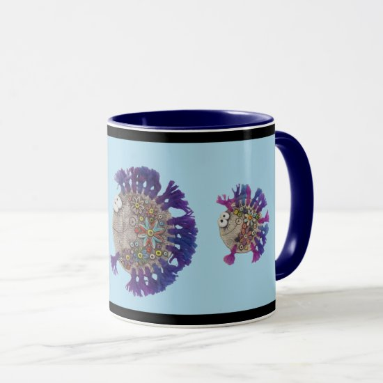 Mug - Purple Fish Family