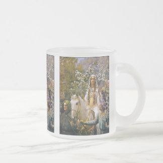 Mug:  Queen Guinevere 10 Oz Frosted Glass Coffee Mug