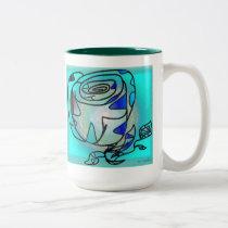mug radial rose design
