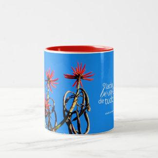 Mug red flowers Paraty