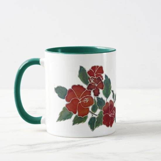Mug - Red Hibiscus