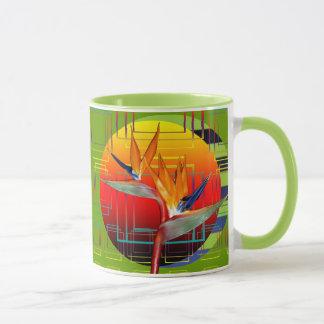 Mug | Retro Bird of Paradise Flower Geometric