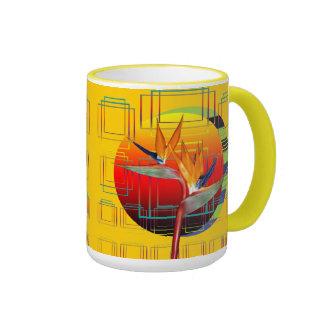 Mug   Retro Bird of Paradise Flower Geometric