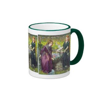 Mug: Rossetti - Dante's Vision of Rachel & Leah Ringer Coffee Mug