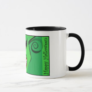 Mug - Scary Face Green Design