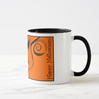 Mug - Scary Face Orange Coffee Mug